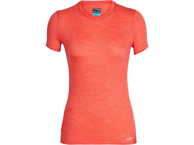 Icebreaker Amplify Koszulka do biegania z krótkim rękawem Kobiety czerwony